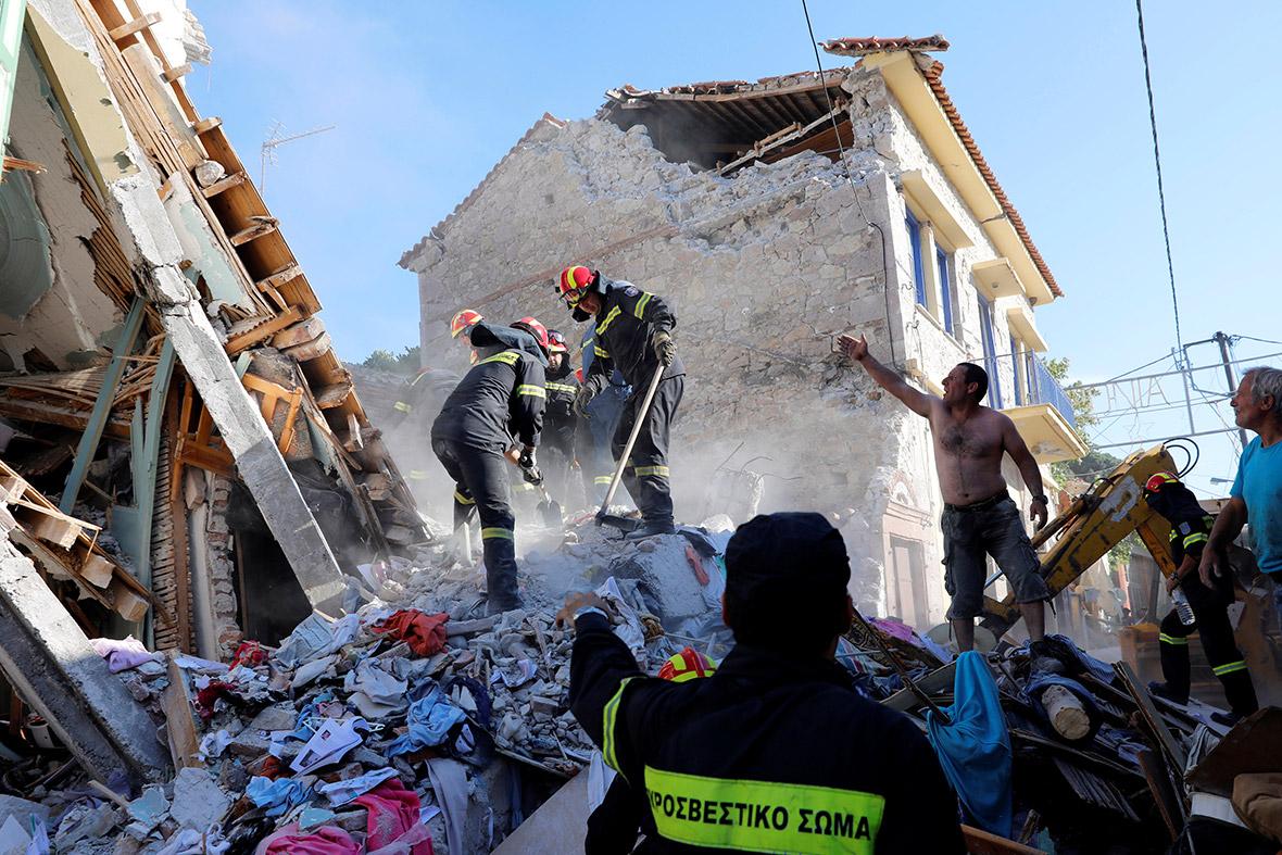 Earthquake Lesbos Greece Turkey σεισμός