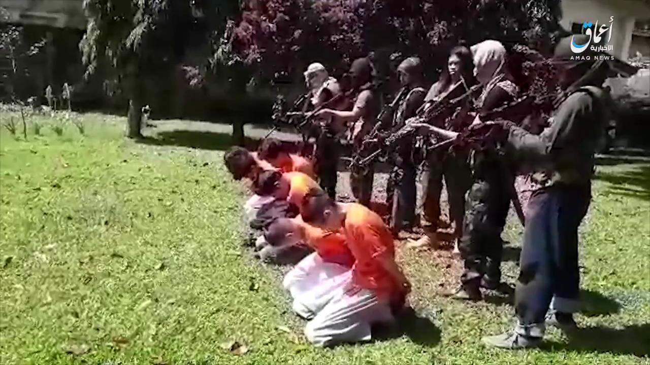 Maute militants in Marawi