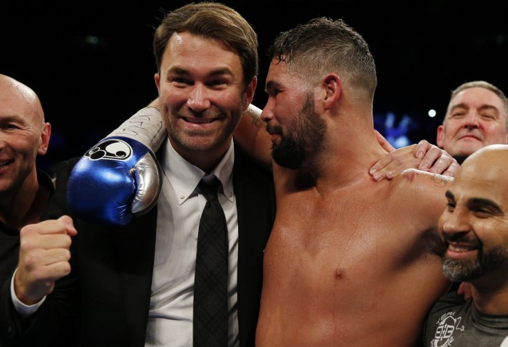 Eddie Hearn and Tony Bellew