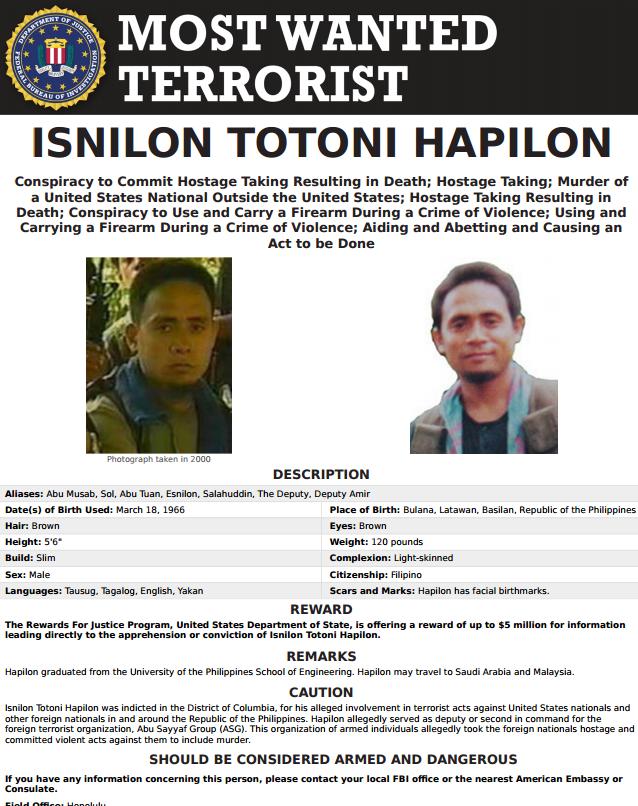 Isnilon Totoni Hapilon - FBI