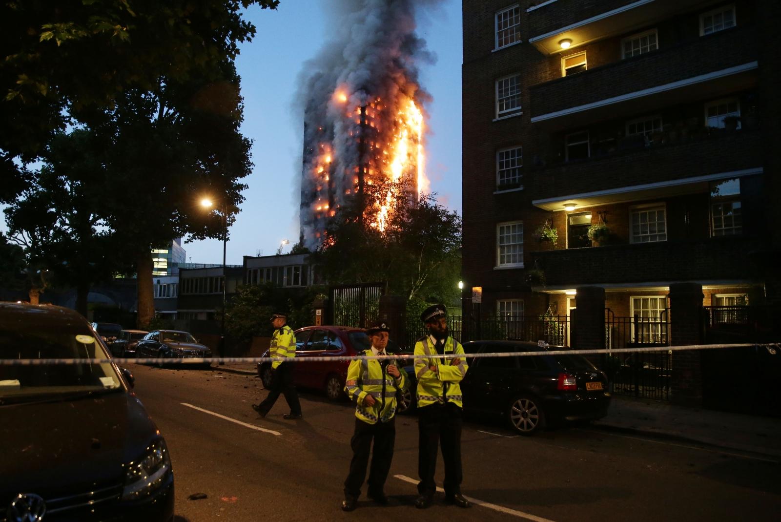 Grenfell Tower fire west London Kensington