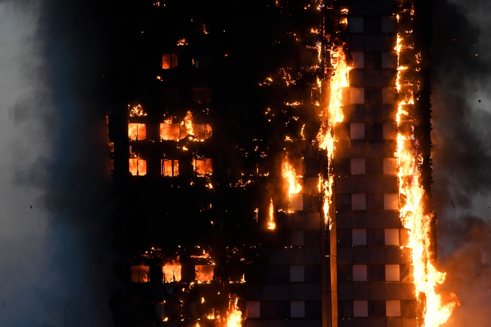 Grenfell Tower block fire Kensington west London