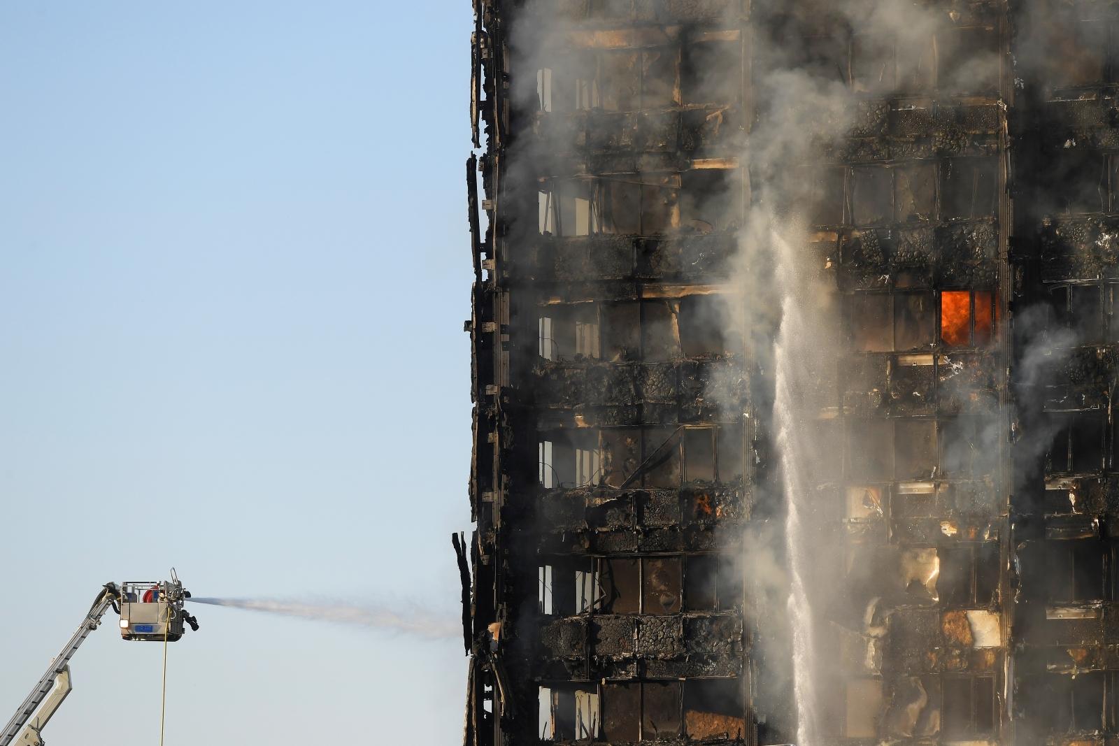 Grenfell Tower block fire Kensington west London