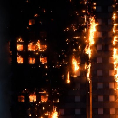 27-storey Grenfell Tower Engulfed In Fire In West London