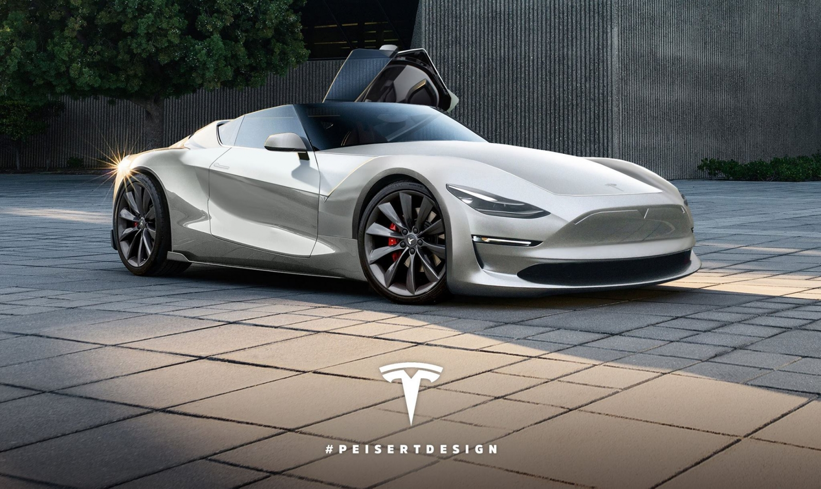 Tesla Roadster 2 render