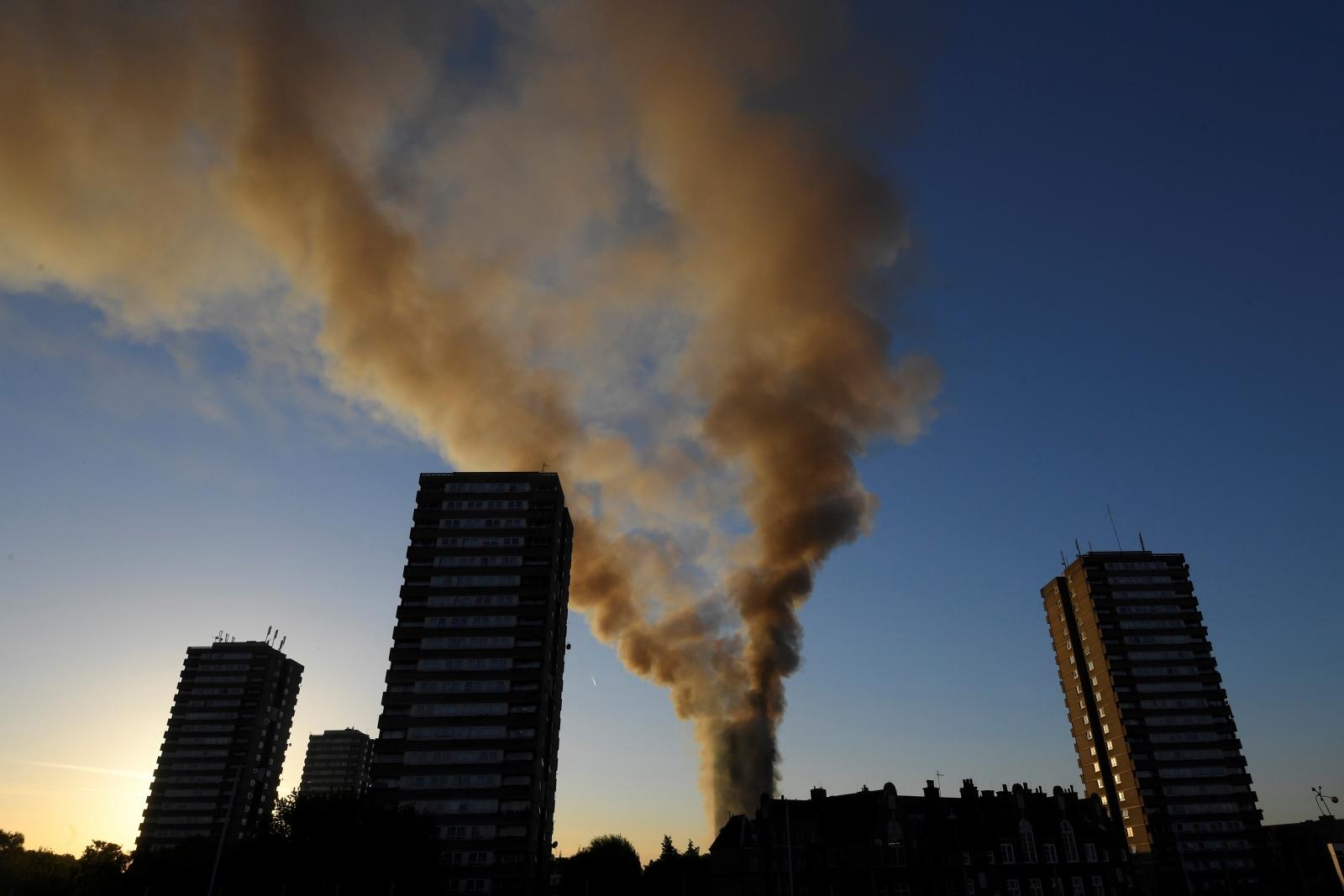 Grenfell Tower fire west London
