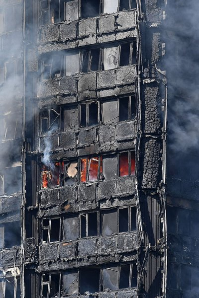 Grenfell Tower fire west London