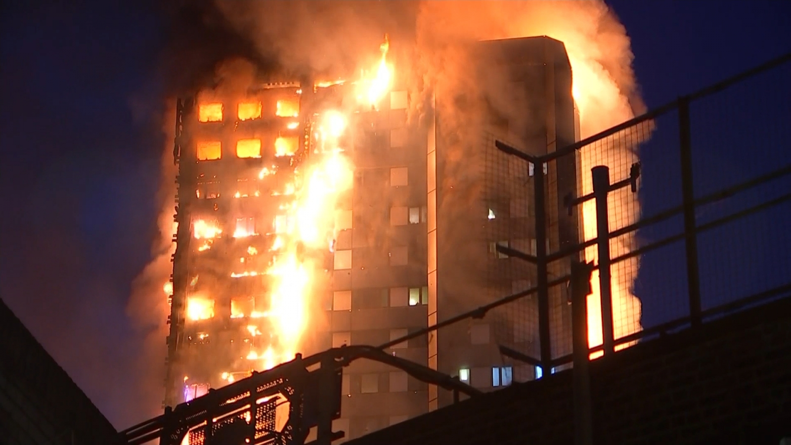 Eyewitnesses Describe Chaotic Scenes At West London Fire.
