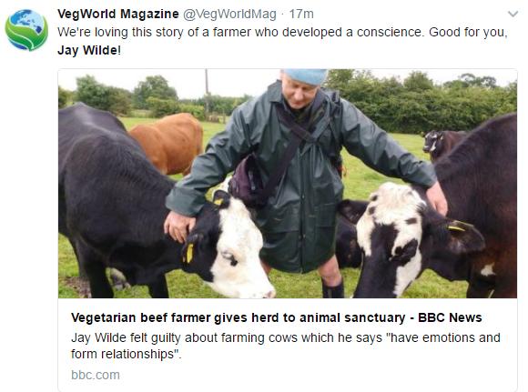Jay Wilde vegetarian farmer