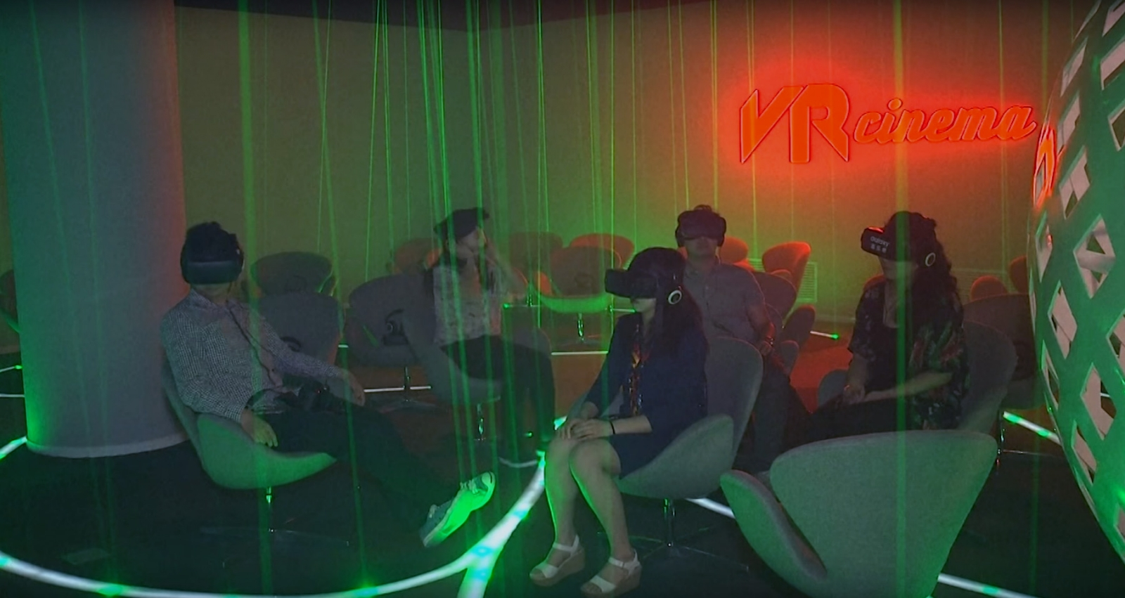 China's first virtual reality cinema in Beijing