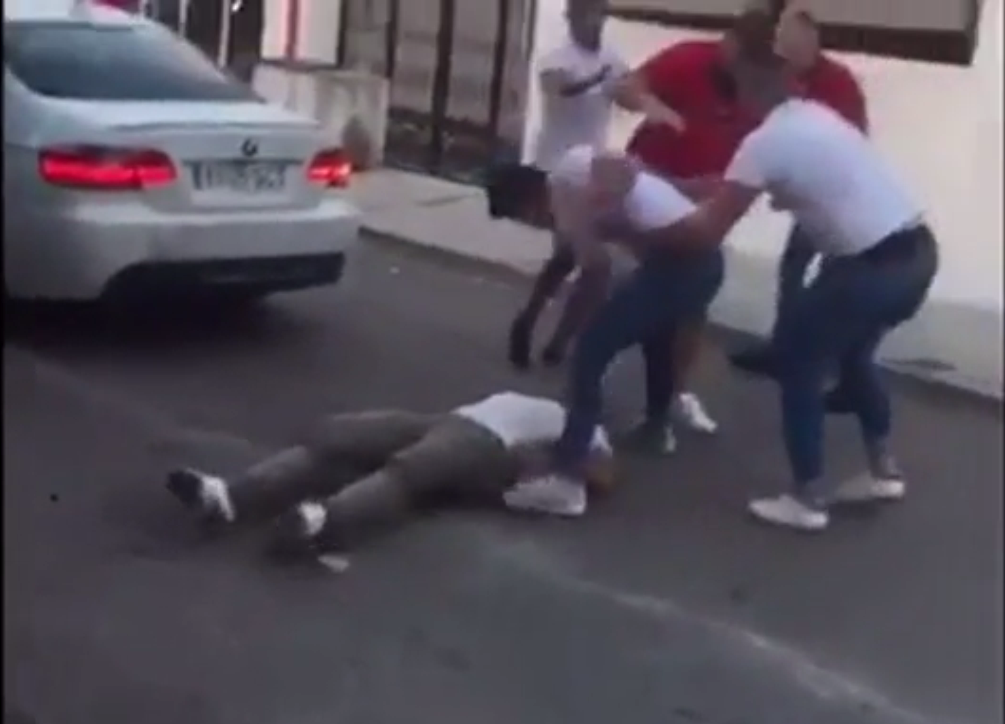 mass brawl outside Marbella nightclub