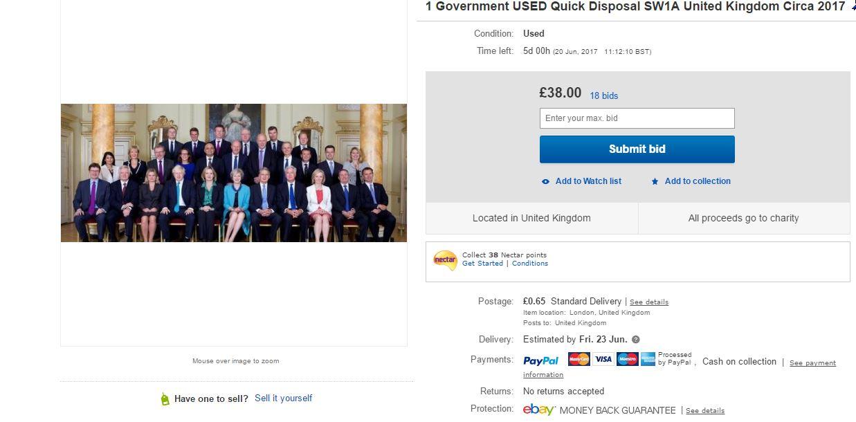 Ebay Ad UK Government
