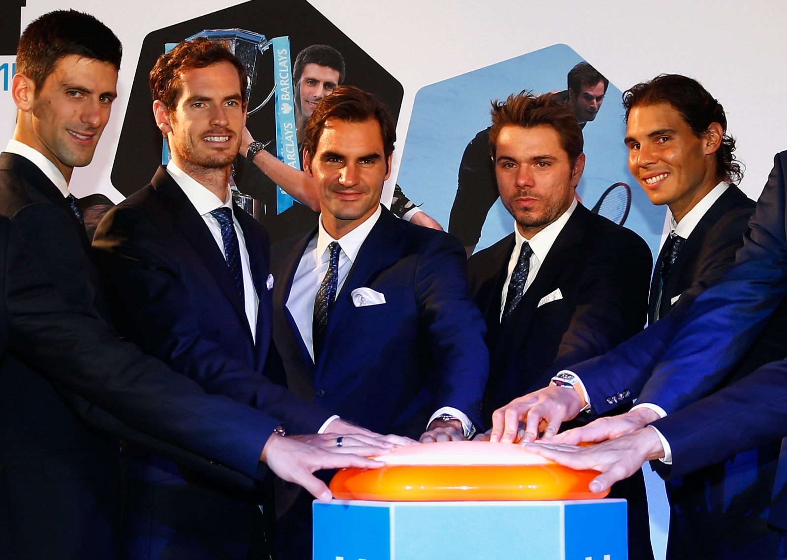 Andy Murray, Roger Federer and Rafael Nadal