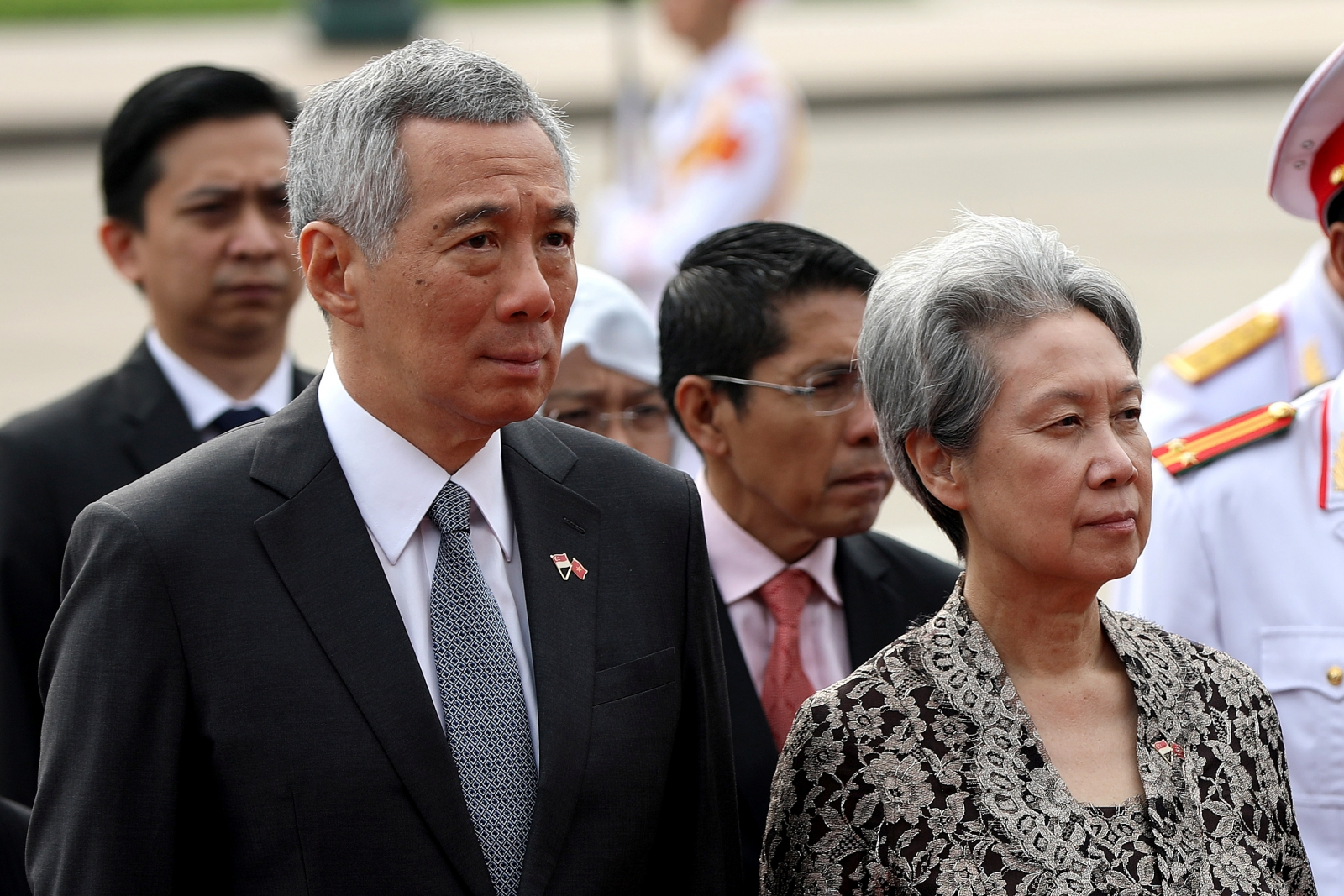 Singapore PM Lee Hsien Loong and wife