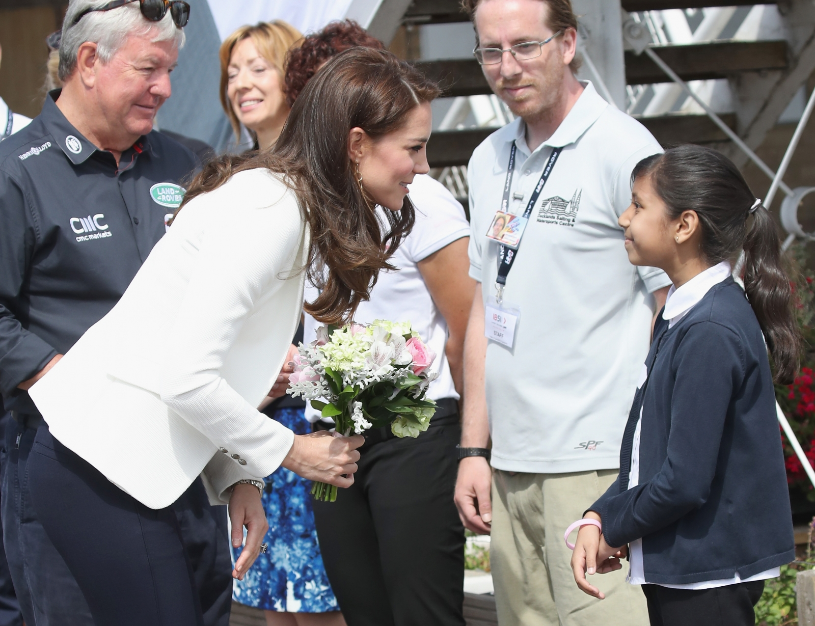 Kate joins schoolchildren at event teaching science through sailing
