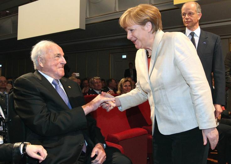 Helmut Kohl and Angela Merkel in 2015.