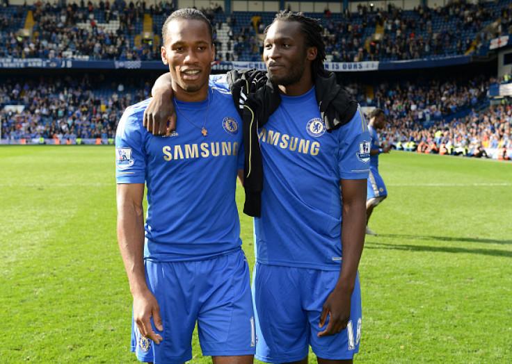 Romelu Lukaku and Didier Drogba