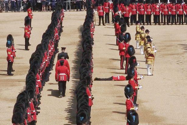 Guardsman collapses faints