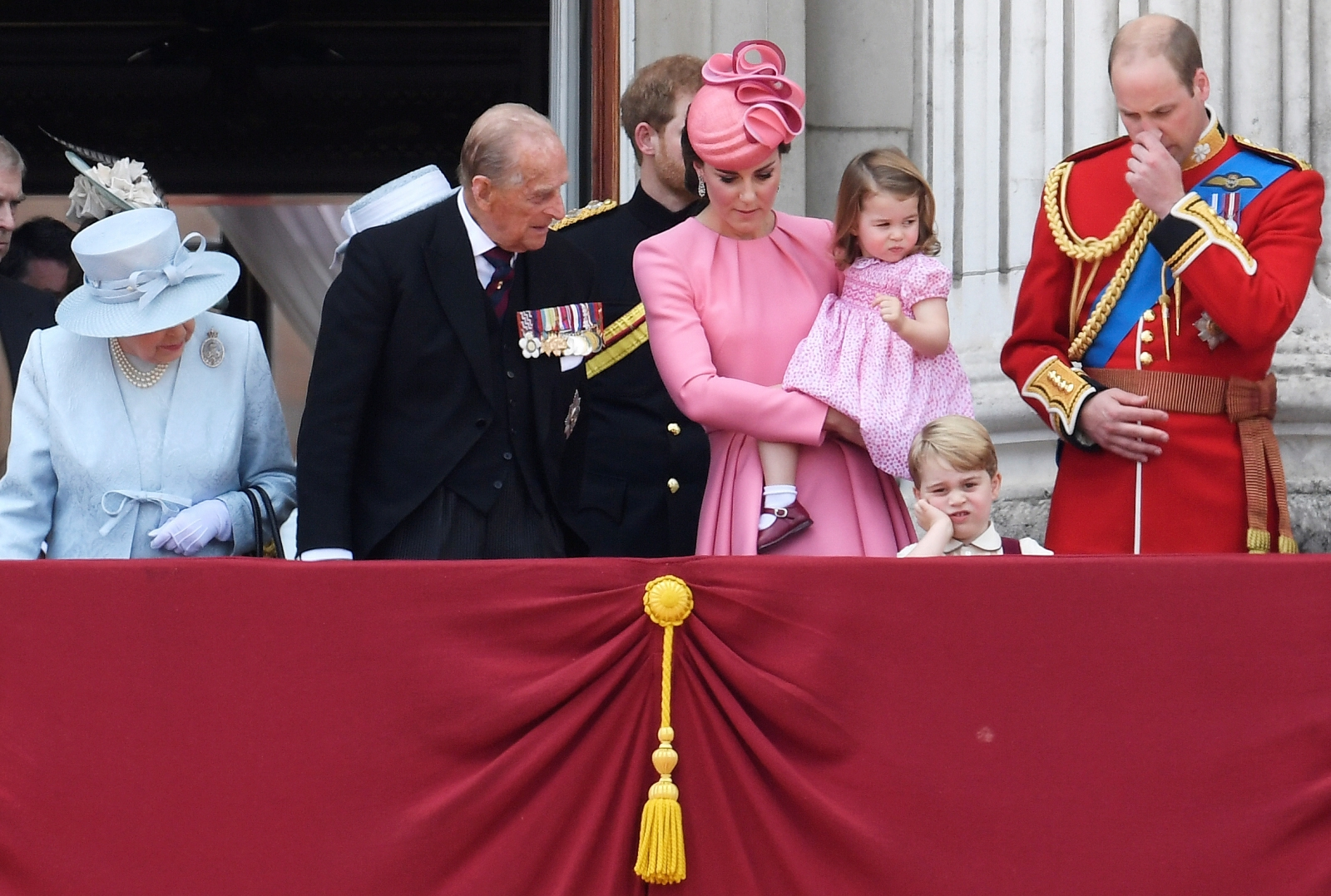 Air Force Birthday 2017 >> Prince George looks royally unamused at the Queen's birthday celebrations