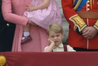 Prince George looks royally unamused at the Queen's birthday celebrations