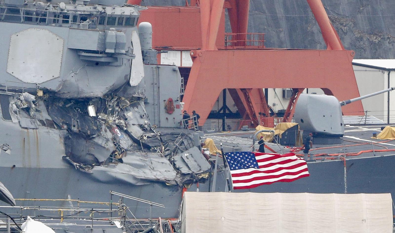USS Fitzgerald Japan coast