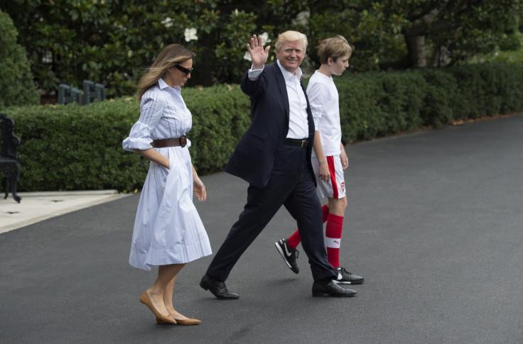 Trump family head to Camp David