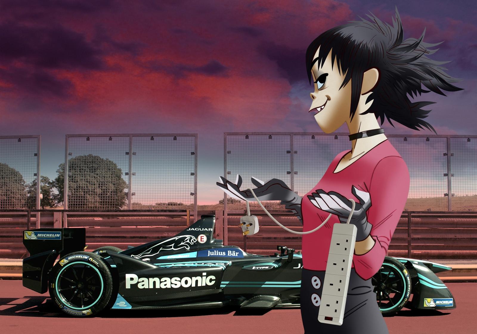 Jaguar's Formula E racing car