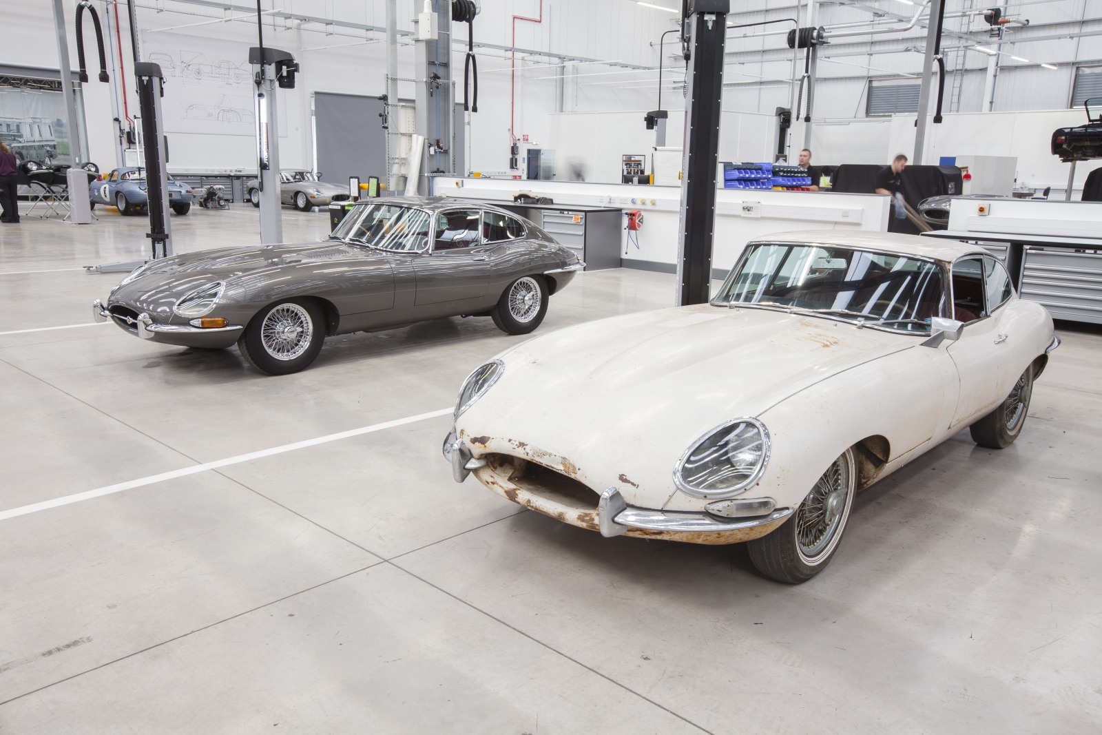 Jaguar E-Types at Classic Works