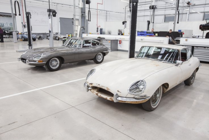 Jaguar E-Types at Classic Works