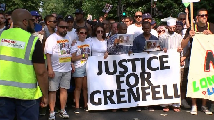 Silent March Through London For Grenfell Tower Fire Victims