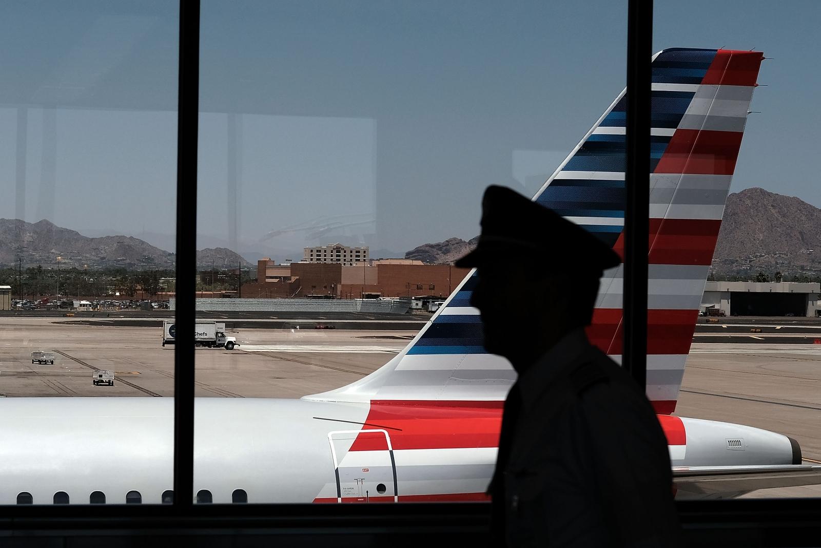 Pilot in Phoenix Airport