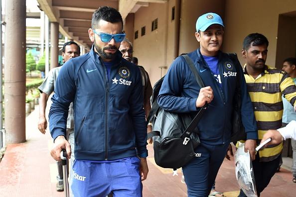 Virat Kohli and Anil Kumble