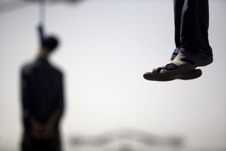 Man hanging