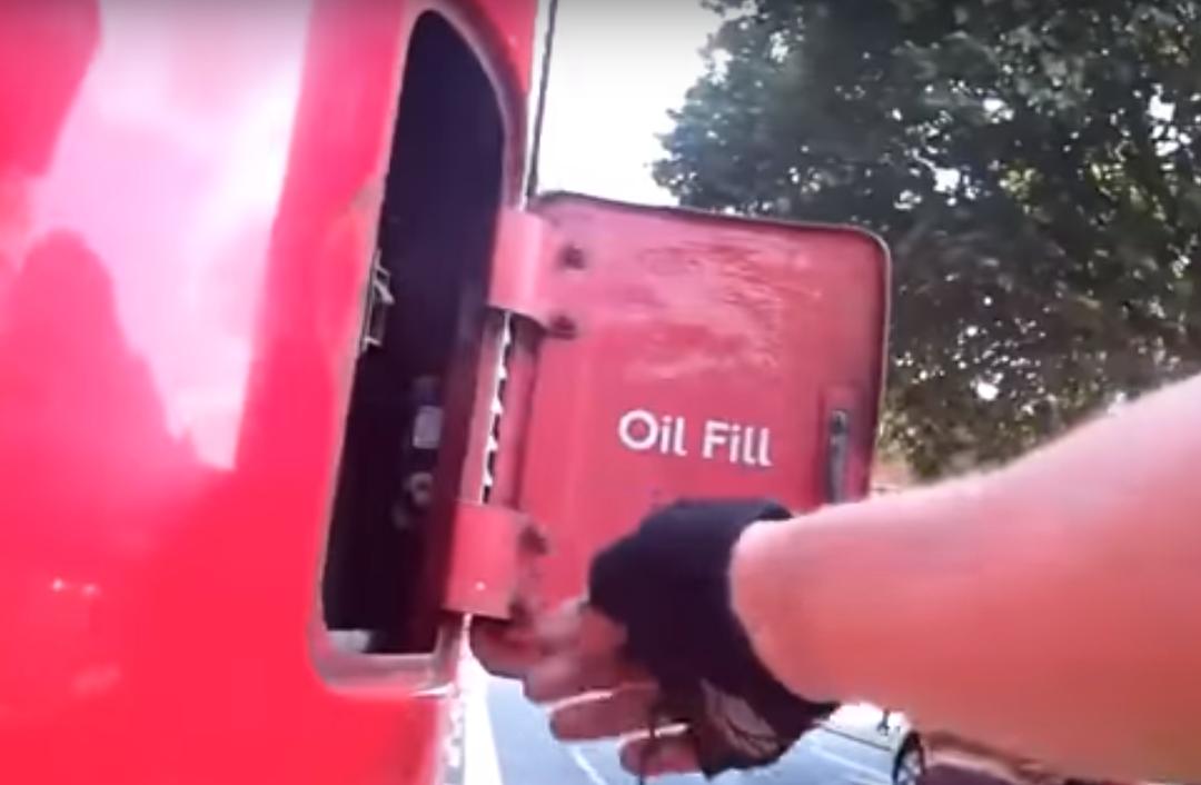Cyclist London bus emergency switch