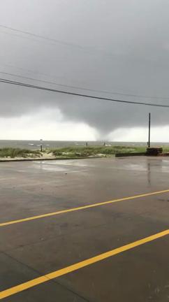 A waterspout filmed off Biloxi, Mississippi