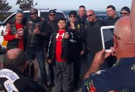 Bikers help bullied boy