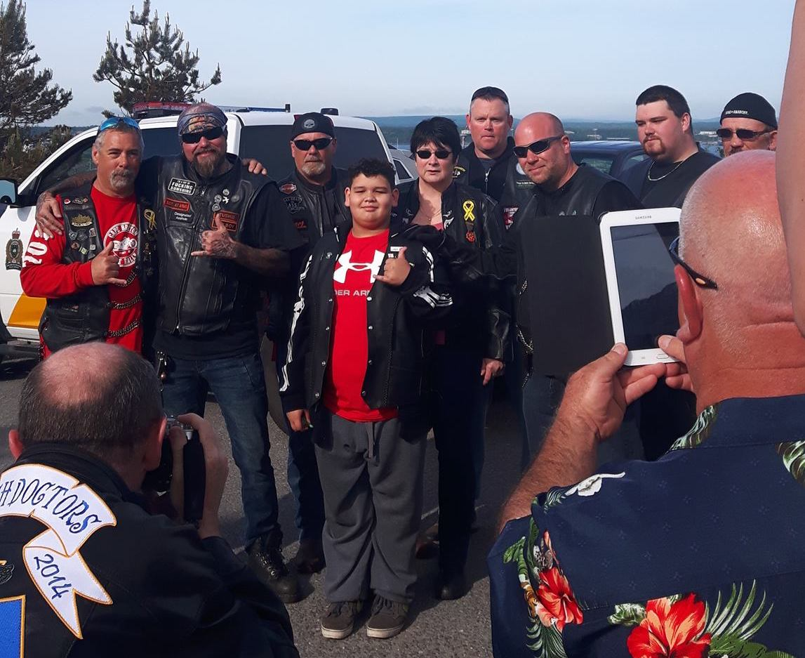 Hundreds of Nova Scotia bikers escort bullied 10-year-old boy to school