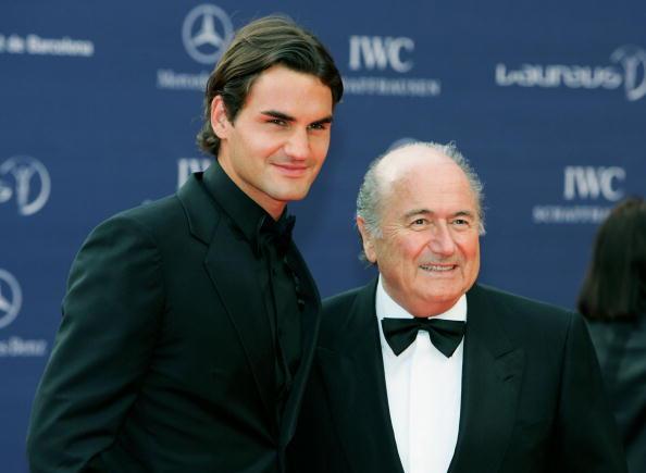 Roger Federer and Sepp Blatter