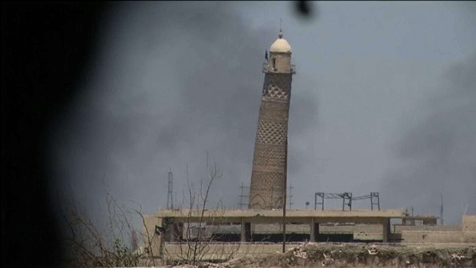 Historic Great Mosque of al-Nuri and al-Habda minaret in Mosul destroyed by Islamic State