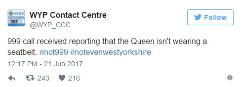 Queen seatbelt tweet