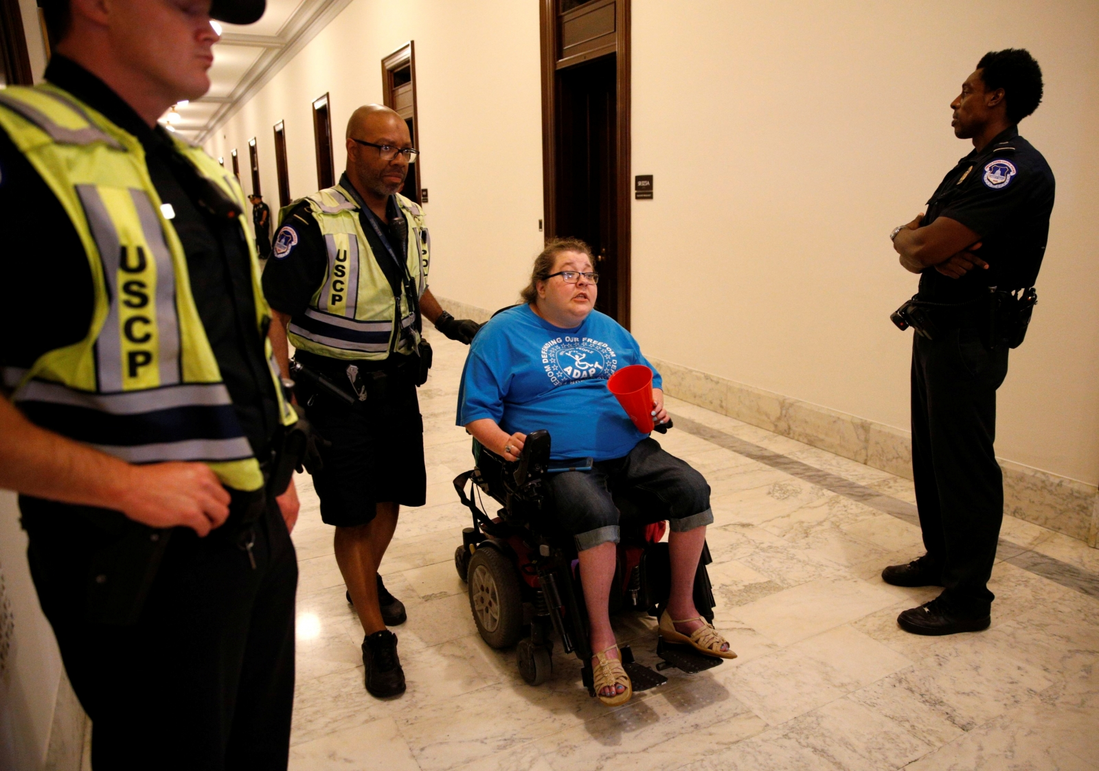 disabled activists protest