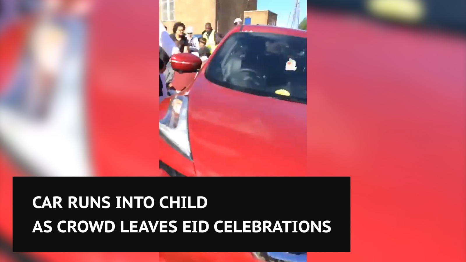 Car runs into child as crowd leaves Eid celebrations in Newcastle