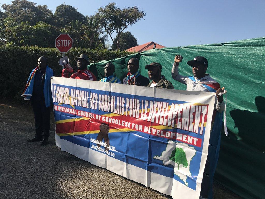 DRC protest Pretoria Kabila Zuma