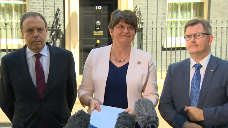 £1bn Tory/DUP deal condemned as 'outrageous bung to keep weak PM'