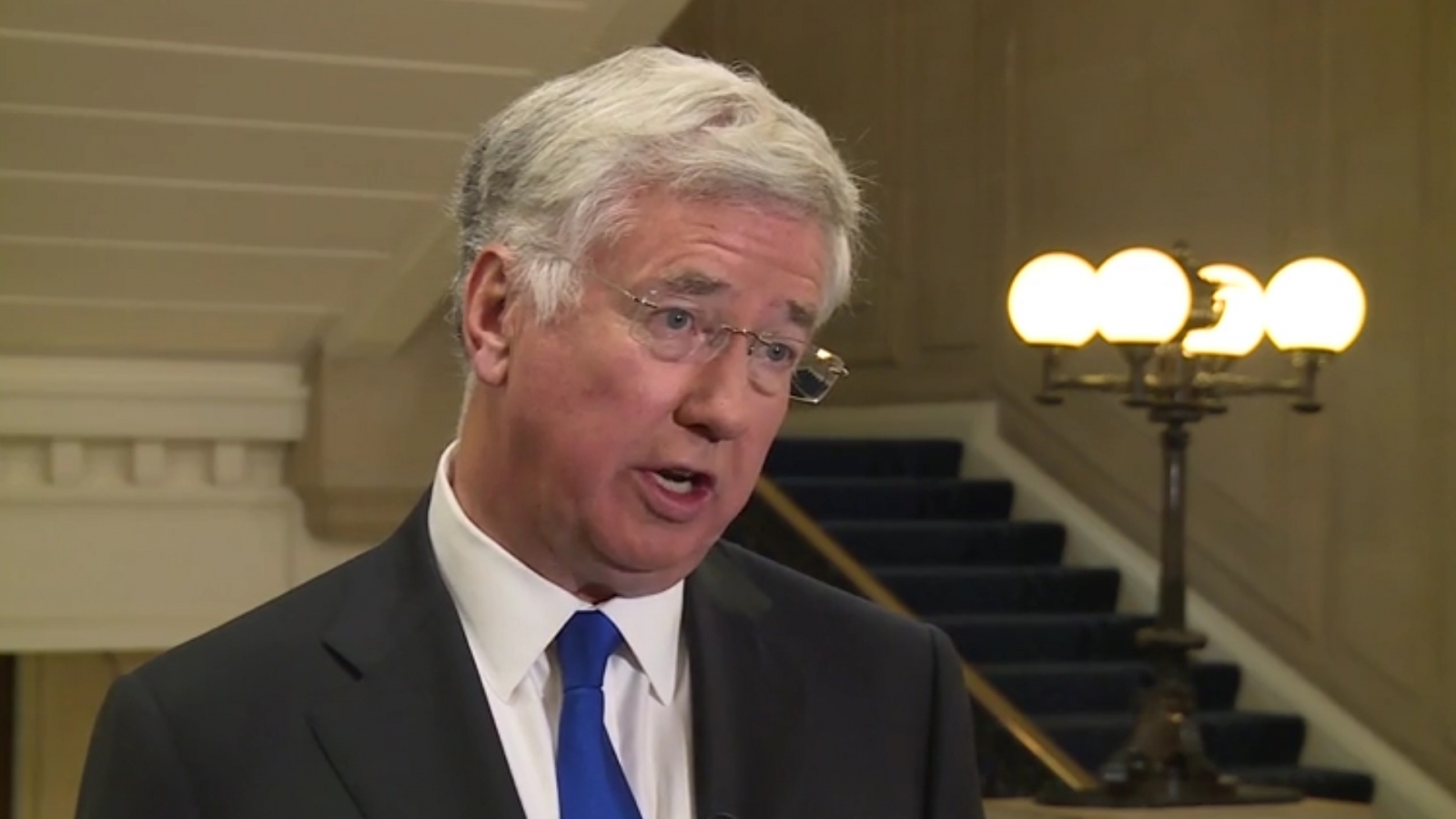 Michael Fallon: UK will support any US retaliation against Assad over possible Syria chemical attacks