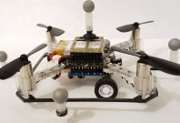Researchers create drone that drive and fly