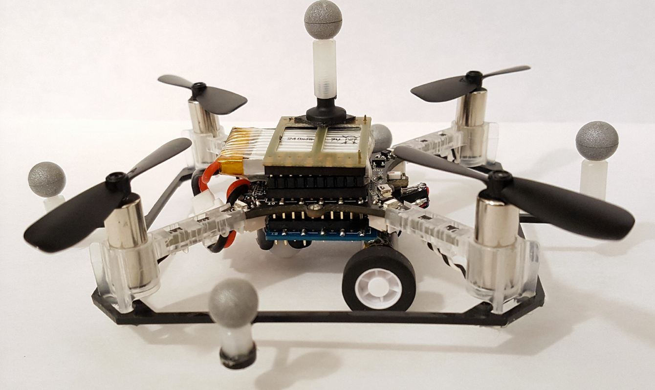Researchers designs drones that drive and fly