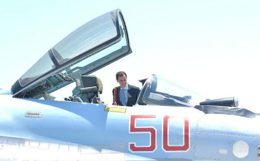 Bashar al-Assad in Russian base