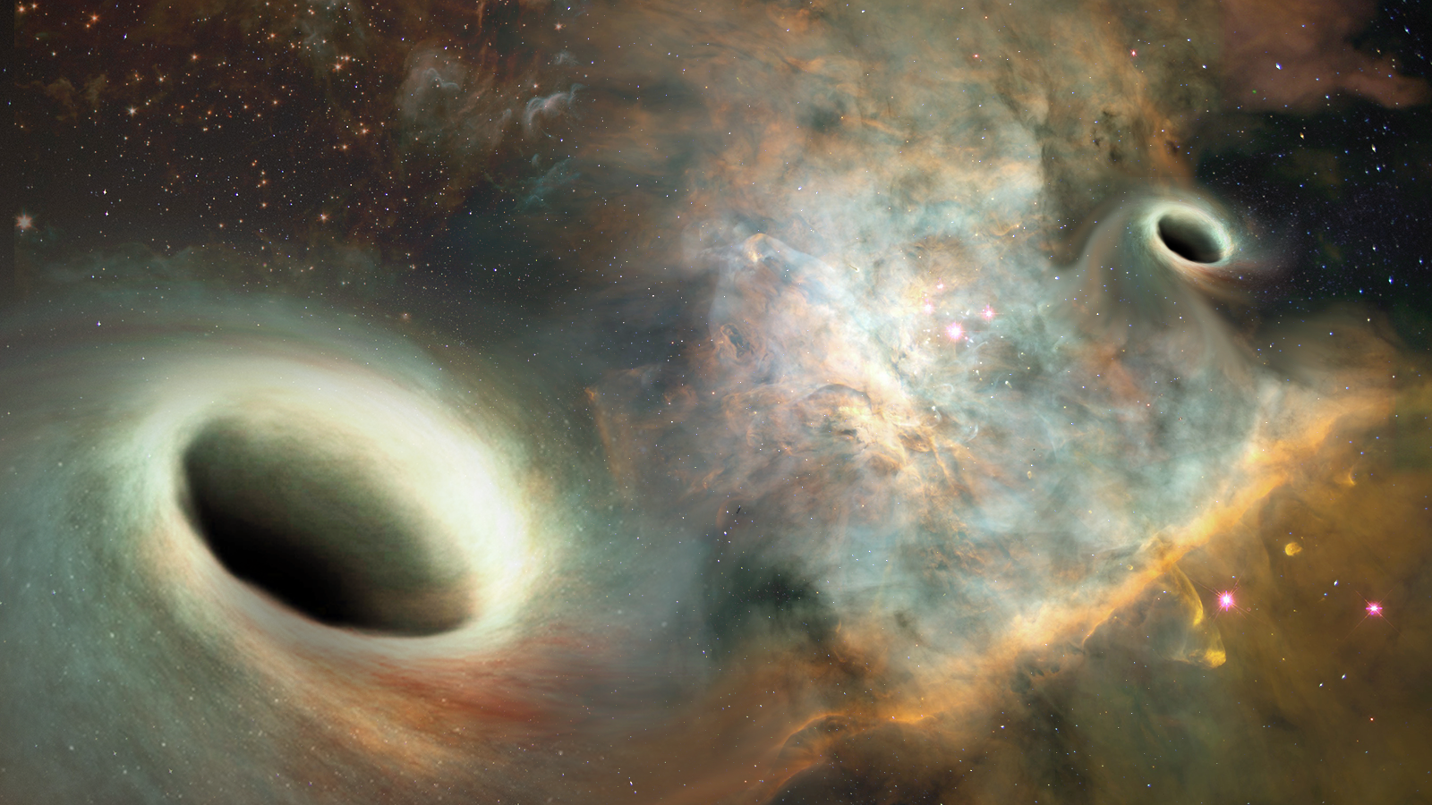The existence of orbiting supermassive black holes finally confirmed