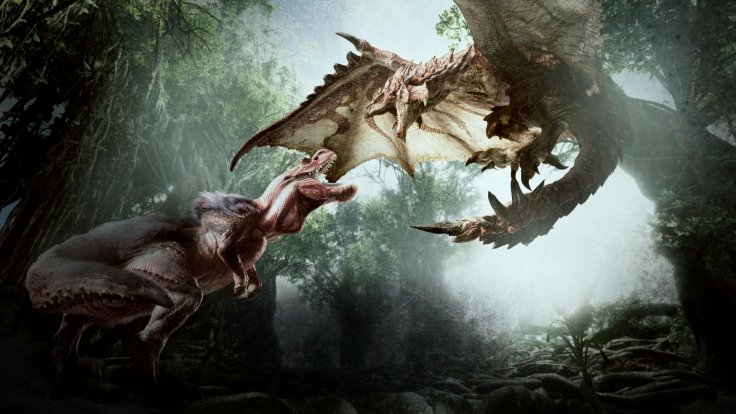 Monster Hunter World artwork dragon dinosaur